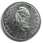Французский тихоокеанский франк 50р