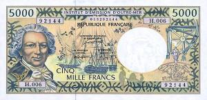 Французский тихоокеанский франк 5000р