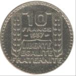 Французский франк 10а