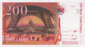 Французский франк 200р