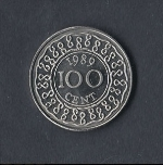 Цент Суринама 100а
