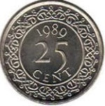 Цент Суринама 25а