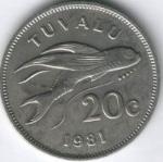 Цент Тувалу 20а