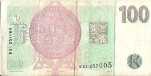 Чешская крона100р