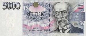 Чешская крона5000а