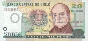 Чилийское песо20000а