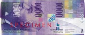 Швейцарская крона1000а