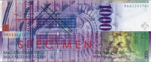Швейцарская крона1000р