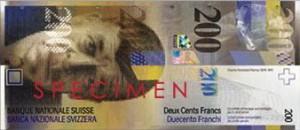 Швейцарская крона200а