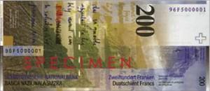 Швейцарская крона200р