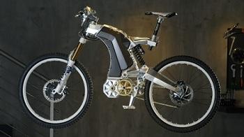 Электронный современный велосипед