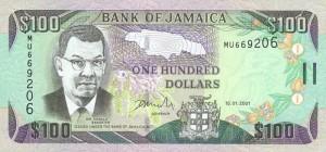 Ямайский доллар100а