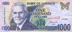 Ямайский доллар1000а