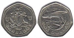 барбадос 1 дол монета