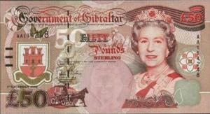 гибралтарский фунт 50а