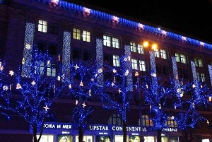 декорирование фасадов на новый год
