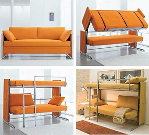 диван трансформер с двумя ярусами товар для бизнеса