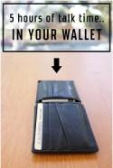 Полезная зарядка в бумажнике