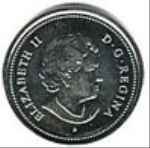 канадский цент 25p