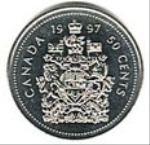 канадский цент 50a