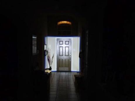 квадратное освещение фонарика