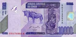 конголезский франк 10000а