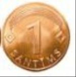 латвийский сантим 1а