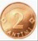 латвийский сантим 2а