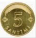 латвийский сантим 5а