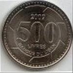 ливанский фунт 500а