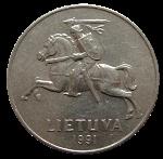 литовский цент 2р