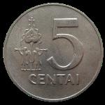 литовский цент 5а
