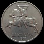 литовский цент 5р