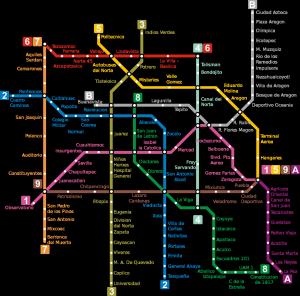 Схема метрополитена Мехико