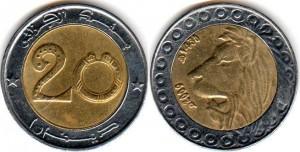 монета алжира 20 динаров