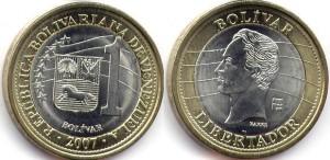 монета венесуэлы 1 боливар