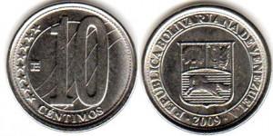 монета венесуэлы 10 сентимо