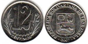 монета венесуэлы 12,5 сентимо