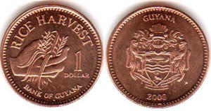 монета гайана 1 доллар
