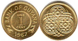монета гайана 1 цент
