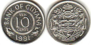 монета гайана 10 центов
