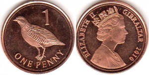 монета гибралтара 1 пенни