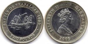 монета гибралтара 2 фунта