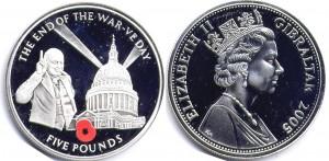 монета гибралтара 5 фунтов