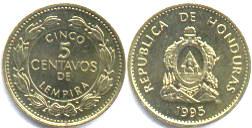 монета гондураса 5 сентаво