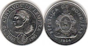 монета гондураса 50 сентаво