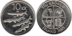 монета исландии 10 крон