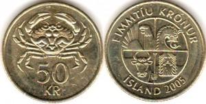 монета исландии 50 крон
