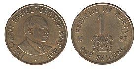 монета кении 1 шиллинг