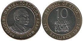 монета кении 10 шиллингов